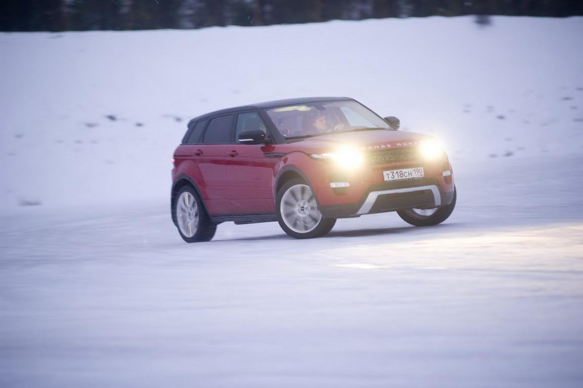 Jaguar Land Rover Experience: Ледяная встряска