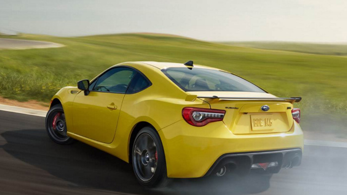 Subaru BRZ Series. Yellow