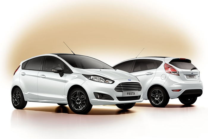 Ford Fiesta White and Black