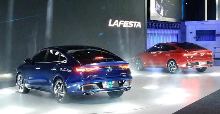 Седан Хендай Lafesta показали на автомобильном салоне вКитайской республике