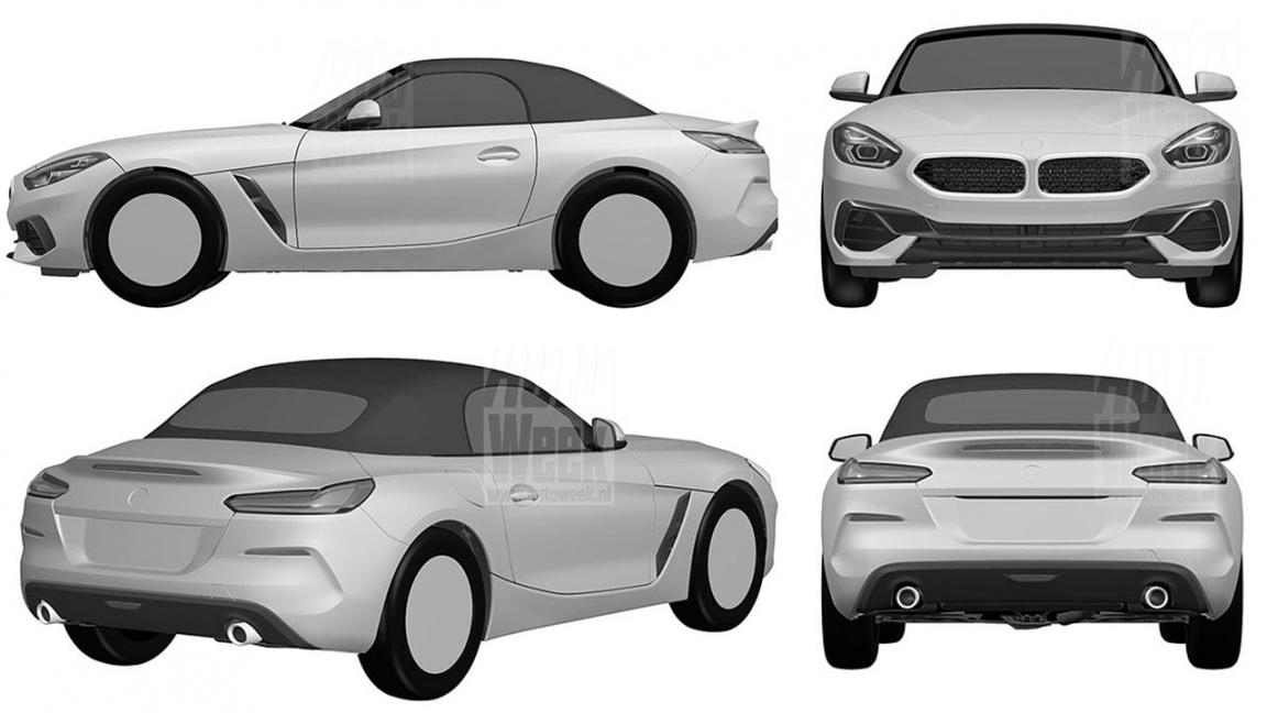 Новый BMW Z4 патентные изображения
