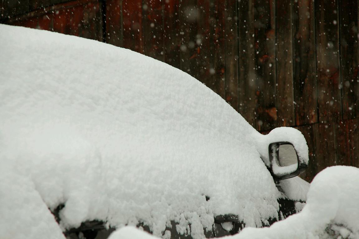 Audi Q7: За снегом зимой