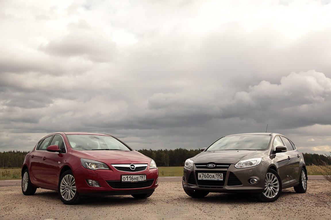 Opel Astra vs Ford Focus: цветы или фокусы?